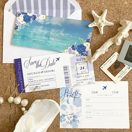 sea blue ticket