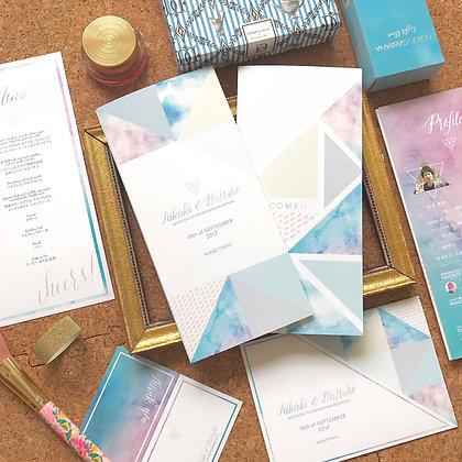 9 colors wedding