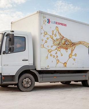 Lubricant distribution truck van
