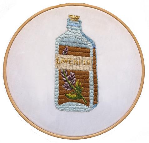 'Lavendar' Hand Embroidery