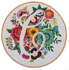 'C' Hand Embroidery