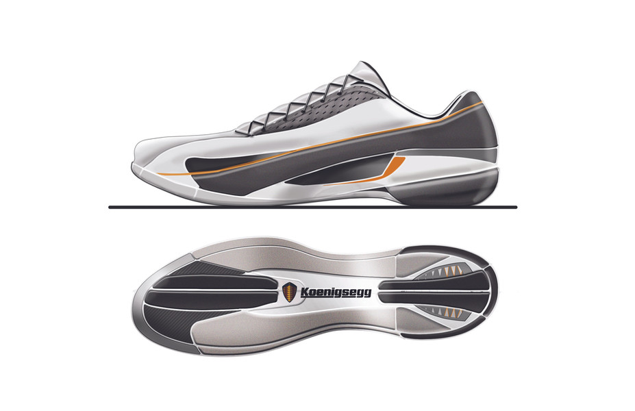 Koenigsegg One Driver Shoe Design