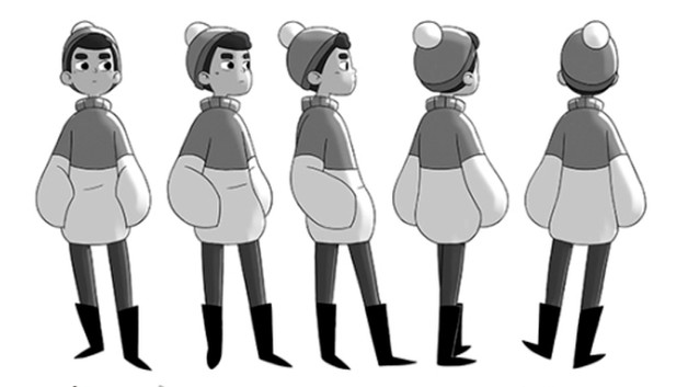 Character rotation