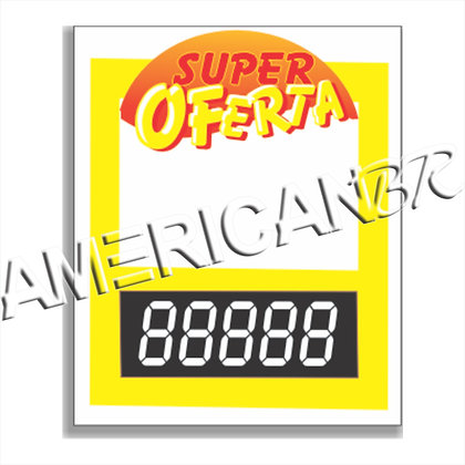 Cartaz Super Oferta com Preço Digital