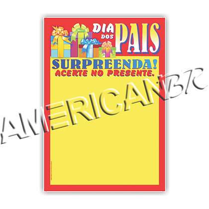 Cartaz Dia dos Pais Surpreenda