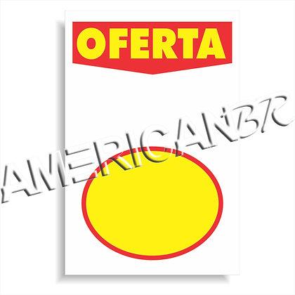 Cartaz cartaz Oferta Branco