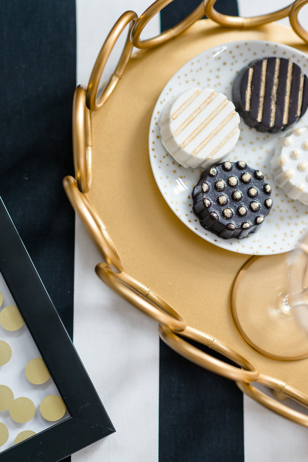 Golden Chocolate Covered Oreos