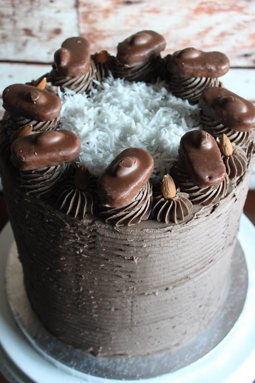 Chocolate Coconut Almond Mega Cake