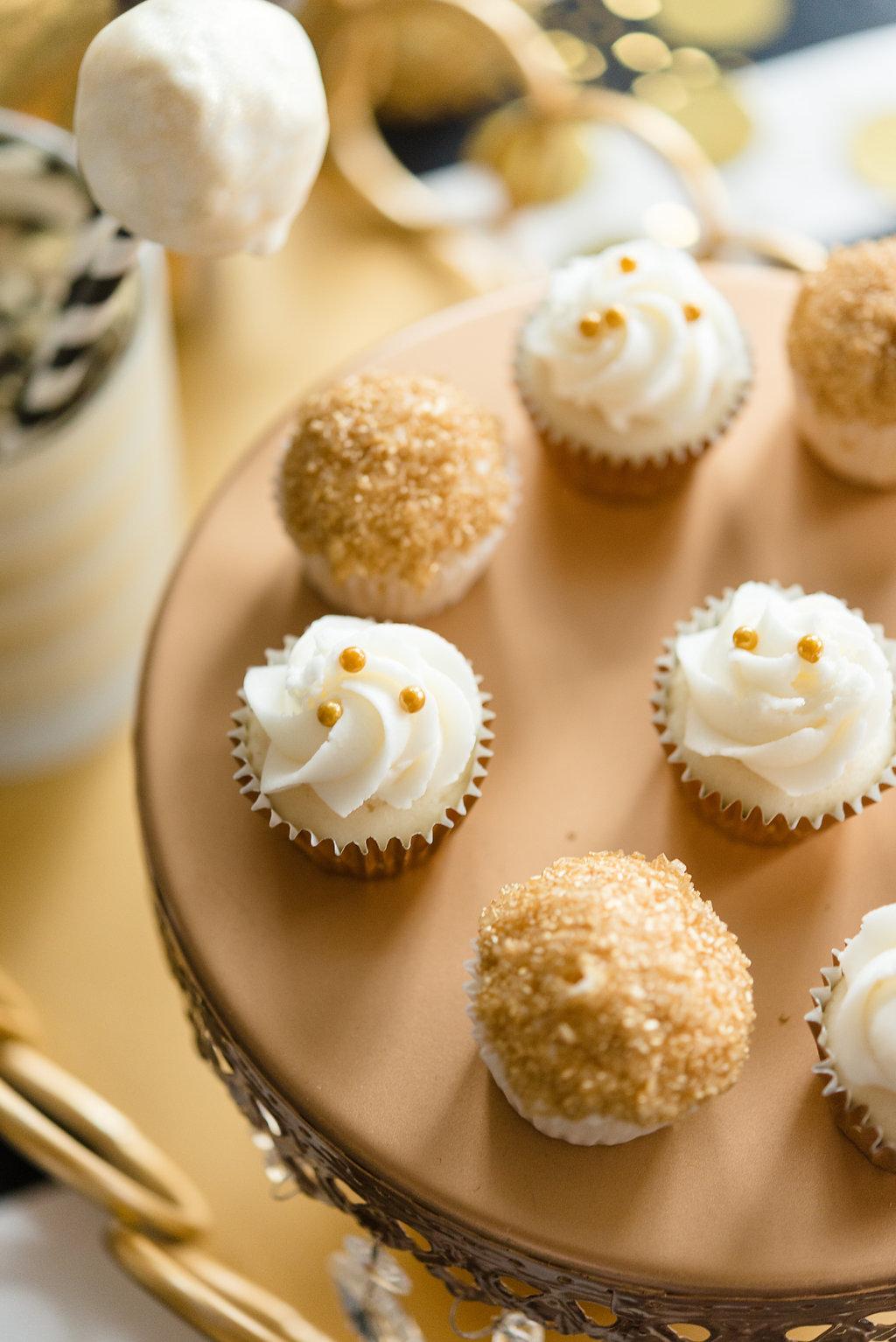 Assorted Gold Mini Cupcakes