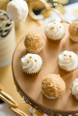 Assorted Gold Mini Cupcakes