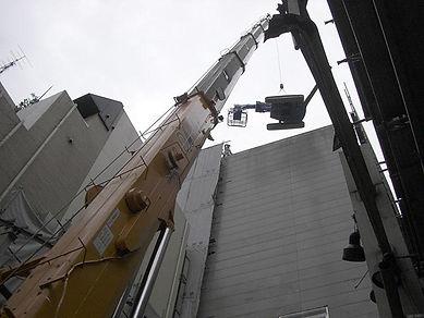 中・高層ビル階上解体工事