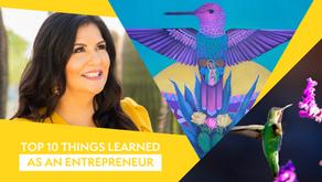 Top 10 Things Learned as an Entrepreneur