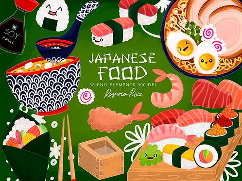 Sushi clipart - Japanese Food Clipart - Asian Food clipart, Ramen clipart