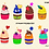 Thumbnail: Cupcake Clipart - make your own cupcake, sprinkles, Birthday Party