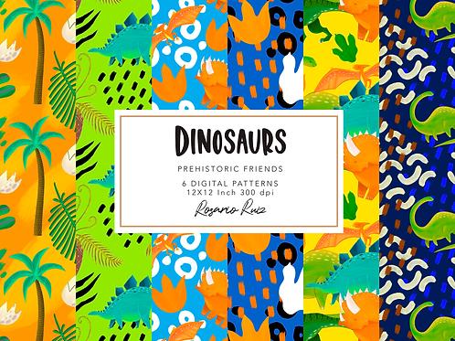 Dinosaur Clipart, Cute Dinos Clipart, Scrapbook printable T-rex