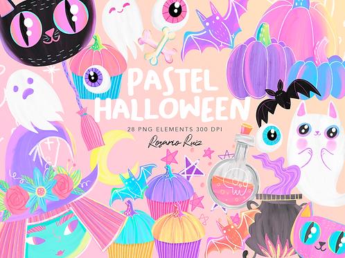 Halloween Clipart, Pastel Halloween Clipart, Pink halloween - Pink Pumpkin