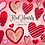 Thumbnail: Red Hearts Clipart - Sublimation PNG - Valentines Clip Art - Glitter heart