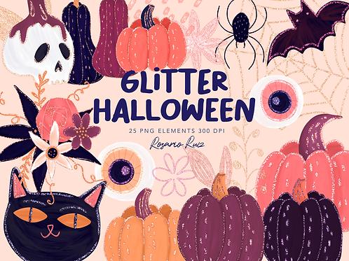 Glitter Halloween Clipart Pink Halloween Clipart Pink image  Glitter Halloween