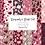 Thumbnail: Burgundy Fall digital paper - Blush Autumn papers set, fall scrapbook paper