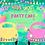 Thumbnail: Party Pastel Cars clipart rainbow, girl & boy quarantine birthday party