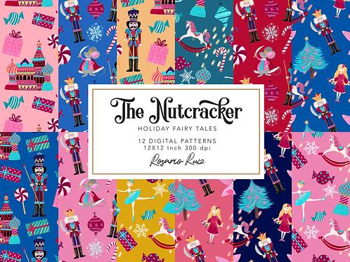Nutcracker Digital paper - Christmas digital paper - Ballet paper - Holiday
