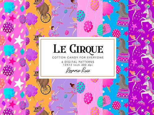 Pink Circus digital paper, Carnival papers, Big Top clipart, Carnival