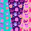 Thumbnail: Girly Monsters digital papers Set - cute monsters paper, party pink monster
