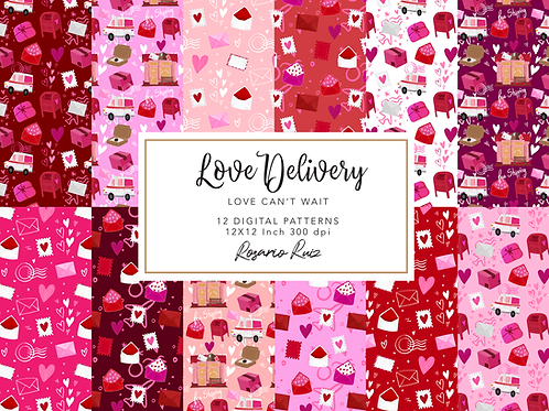 Valentine mail papers, Love Mail paper, Love Package paper