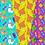 Thumbnail: Christmas llama digital paper - cactus, Llama, alpaca, Presents, Poinsettia