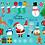 Thumbnail: Christmas Clipart - Santa, Rudolf, Snowman, Presents, Poinsettia, gingerbread