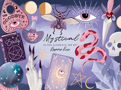 Witchcraft clipart, Magic clipart, Witch clipart, Ouija clipart, Occult clipart