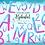 Thumbnail: Watercolor Pink Alphabet Clipart Glitter, Shimmering Alphabet Clipart, PNG