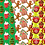 Thumbnail: Christmas Sweets Digital Papers, Fabric Seamless Pattern, Scrapbook Papers