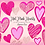 Thumbnail: Hot Pink Hearts Clipart - Sublimation pink hearts - Valentines Clip Art