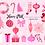 Thumbnail: Pink Christmas Clipart, cute polar bear, Winter pink Clip Art