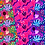 Thumbnail: Coloful Jungle Digital Papers , Pink tiger - pink papers jungle friends