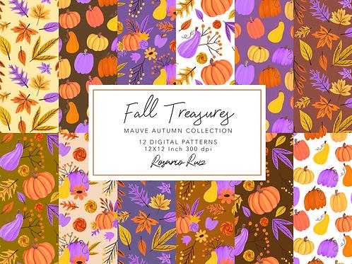 Fall digital paper - Autumn papers set, fall scrapbook paper, Thanksgiving