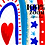 Thumbnail: Patriotic Rainbow Clipart, Independence Day Clip Art, USA Clipart