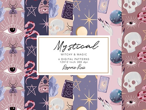 Witchcraft digital paper Magic paper, Witch paper, Occult paper, Mystic Esoteric