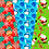 Thumbnail: Christmas digital papers, Santa, Rudolf, Snowman, Presents, Poinsettia