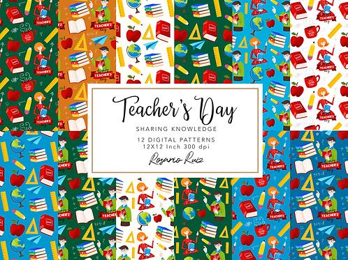 Teachers Digital Paper - School Classroom - Teacher mug - school scrapbook