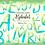 Thumbnail: Watercolor Blue Alphabet Clipart Glitter, Shimmering Alphabet Clipart, PNG