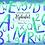 Thumbnail: Watercolor Purple Alphabet Clipart Glitter, Shimmering Alphabet Clipart, PNG