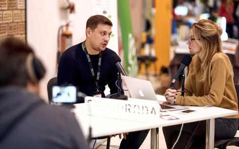 CEO gives an Interview @ Devoxx Ukraine
