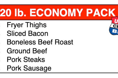 20 Lbs Economy Meat Pack