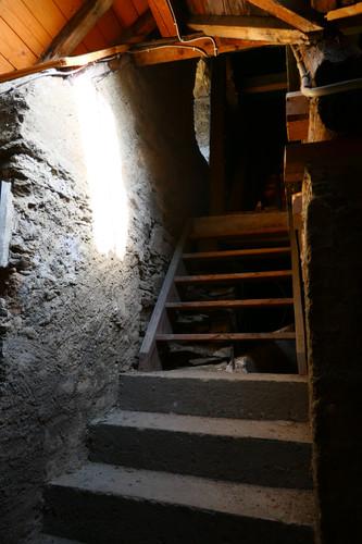 Aufgang zum Kirchen-Dachstuhl