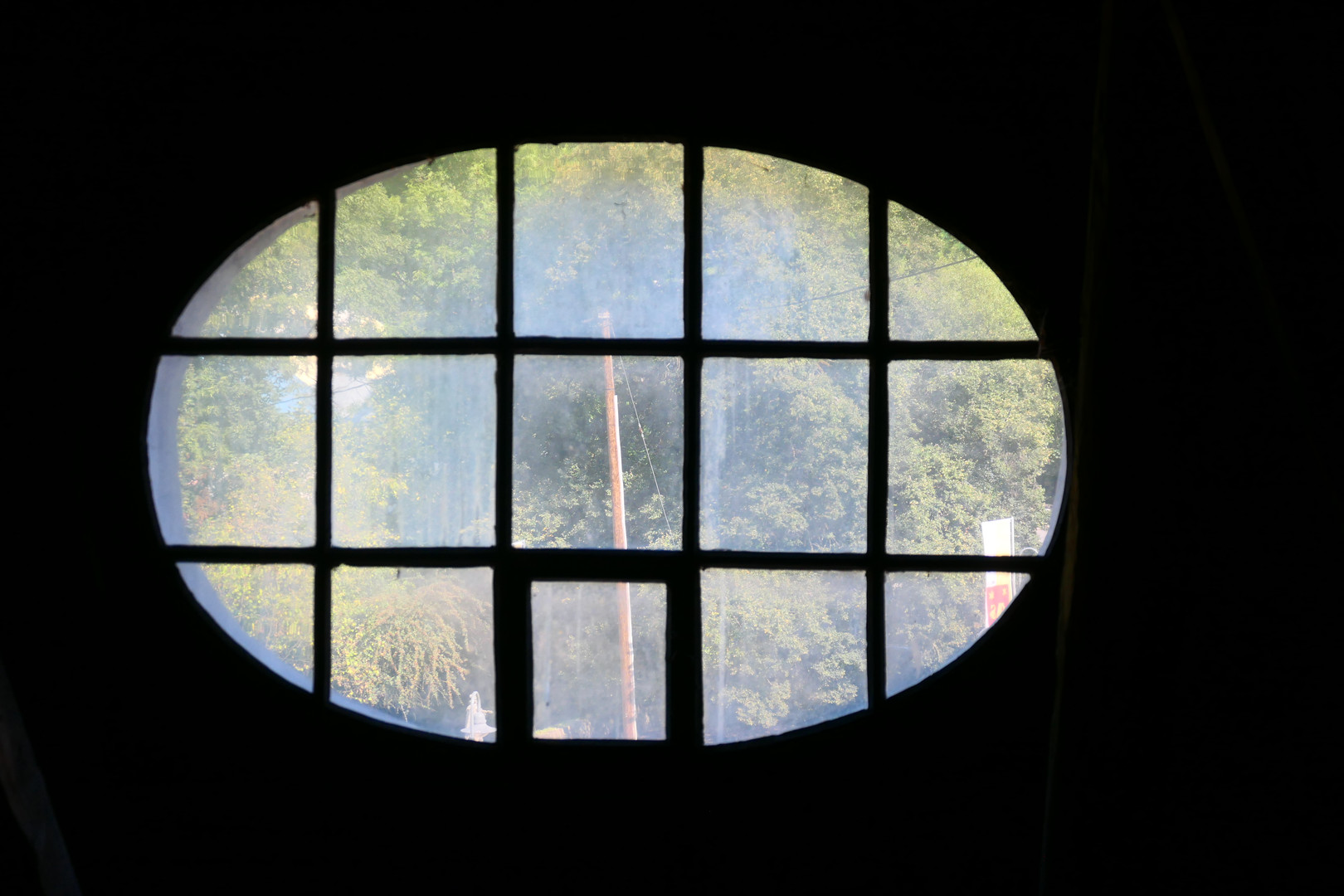Barockfenster im Dachstuhl des Abtsgebäudes
