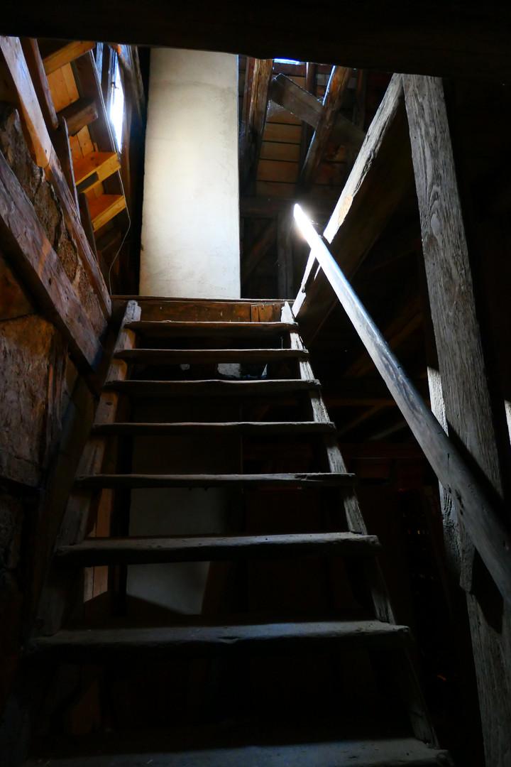 Aufgang zur Dachstuhl-Spitze im barocken Abtsgebäude