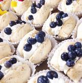 Blueberry Meringue Shells