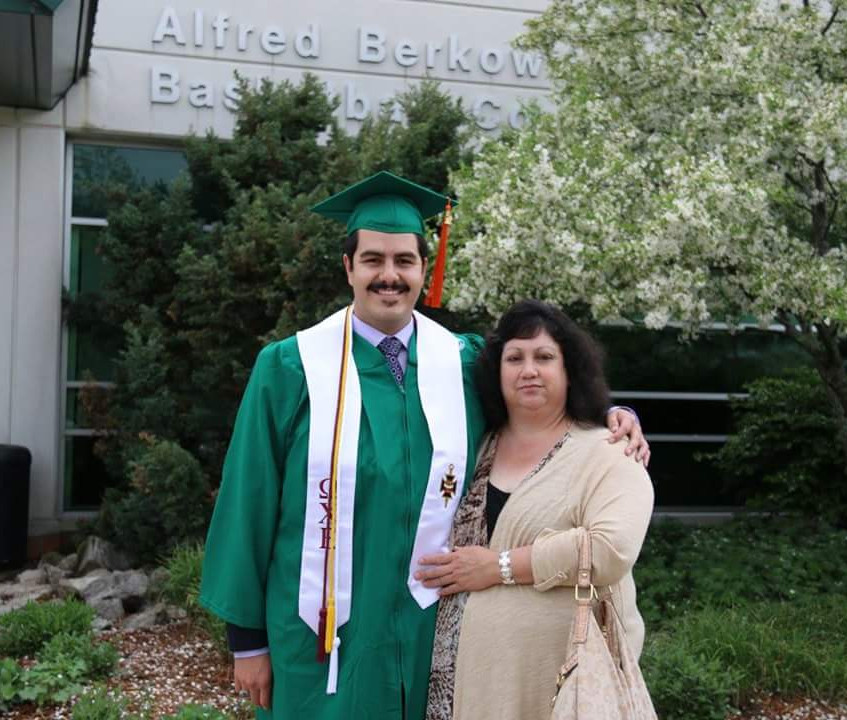 With Mom at Graduation